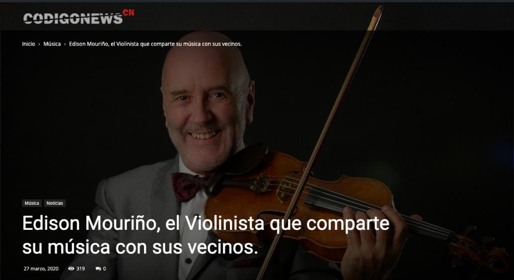 violinista Edison Mouriño